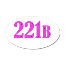 221 B Pink Wall Decal