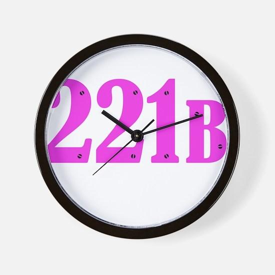 221 B Pink Wall Clock
