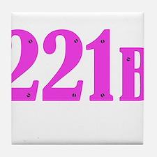 221 B Pink Tile Coaster