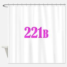 221 B Pink Shower Curtain