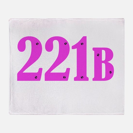 221 B Pink Throw Blanket