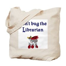 Librarian and Ladybugs Tote Bag
