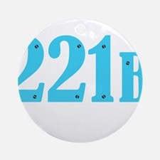 221 B Blue Ornament (Round)