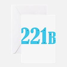 221 B Blue Greeting Cards
