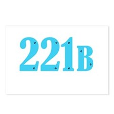 221 B Blue Postcards (Package of 8)