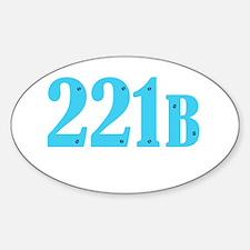 221 B Blue Decal