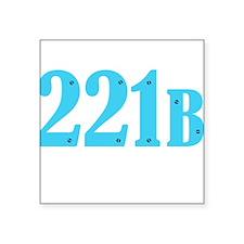 221 B Blue Sticker