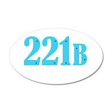 221 B Blue Wall Decal