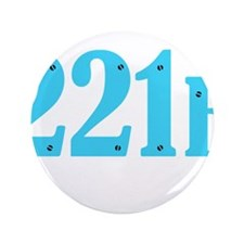 "221 B Blue 3.5"" Button"