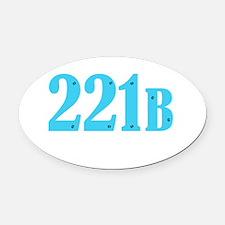 221 B Blue Oval Car Magnet
