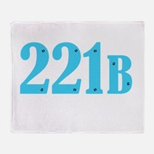221 B Blue Throw Blanket