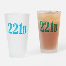 221 B Blue Drinking Glass