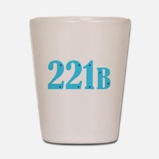 221 B Blue Shot Glass