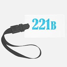 221 B Blue Luggage Tag