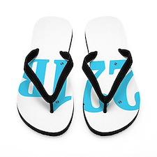 221 B Blue Flip Flops