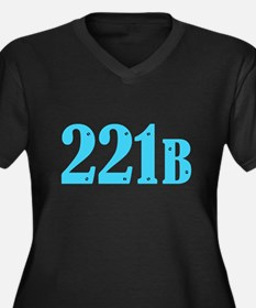 221 B Blue Plus Size T-Shirt