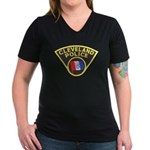 Cleveland Ohio Police Women's V-Neck Dark T-Shirt