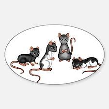 cute rats Decal