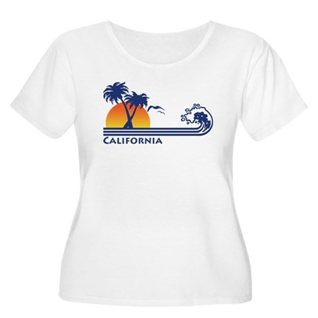 California Women's Plus Size Scoop Neck T-Shirt