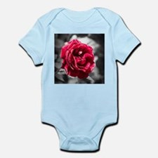 Red Rose on B/W Infant Bodysuit