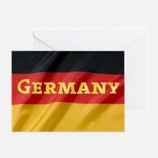 Flag of Germany, labeled Greeting Card