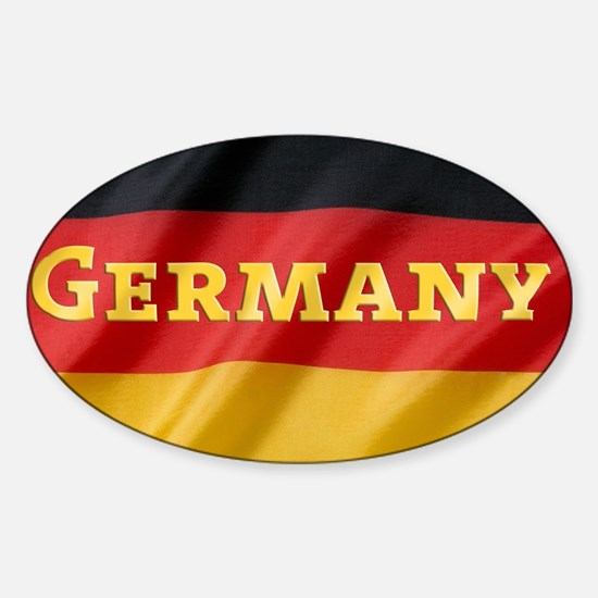 Flag of Germany, labeled Sticker (Oval)