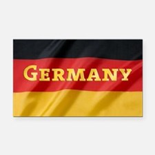 Flag of Germany, labeled Rectangle Car Magnet