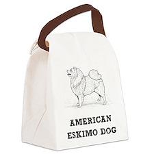 Eskimo Dog Canvas Lunch Bag