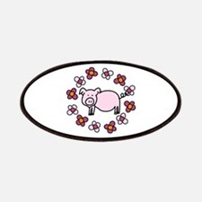 Flower Floral Miss Piggy Pig Animal Patches