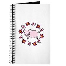Flower Floral Miss Piggy Pig Animal Journal