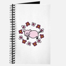 Flower Floral Miss Piggy Pig Animal Journal