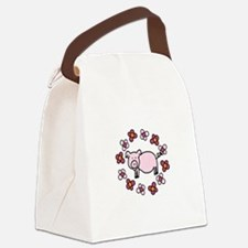 Flower Floral Miss Piggy Pig Animal Canvas Lunch B