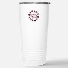 Flower Floral Miss Piggy Pig Animal Travel Mug