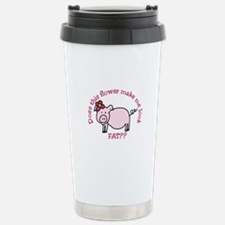 Does this flower make me look fat? Travel Mug