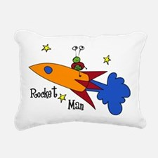 Rocket Man Rectangular Canvas Pillow