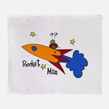 Rocket Man Throw Blanket