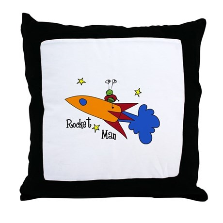 Rocket Man Throw Pillow