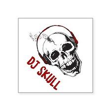 Dj Skull Sticker