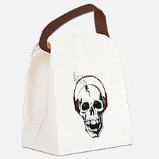 DJ Skull Canvas Lunch Bag