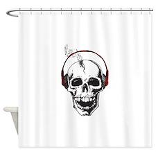 DJ Skull Shower Curtain