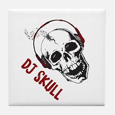 Dj Skull Tile Coaster