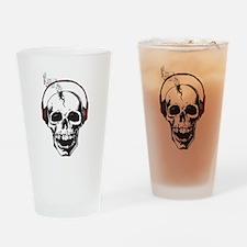 DJ Skull Drinking Glass