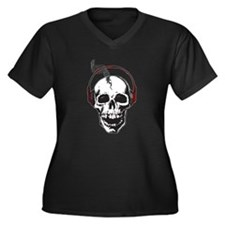 DJ Skull Plus Size T-Shirt