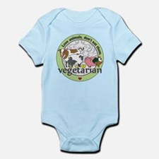 Love Animals Dont Eat Them Vegetar Infant Bodysuit