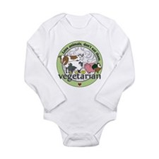 Love Animals Dont Eat Long Sleeve Infant Bodysuit