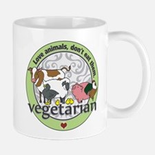 Love Animals Dont Eat Them Vegetarian Mug