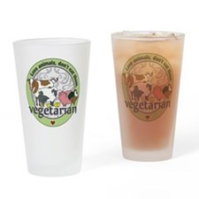 Love Animals Dont Eat Them Vegetari Drinking Glass