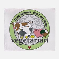 Love Animals Dont Eat Them Vegetaria Throw Blanket