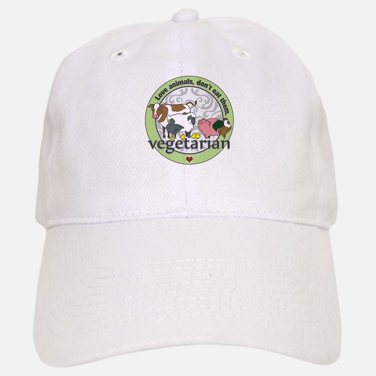 Love Animals Dont Eat Them Vegetarian Baseball Baseball Cap