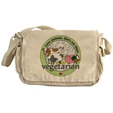 Love Animals Dont Eat Them Vegetaria Messenger Bag
